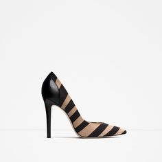 Leather high heel shoes by Zara Leather Court Shoes, Leather High Heels, Real Leather, Animal Print High Heels, Winter Shoes For Women, Pumps, Zara Shoes, Crazy Shoes, Fashion Shoes