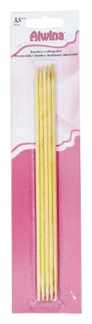 Puiset sukkapuikot, esim. koivua tai bambua, koko 3, n. 5 e