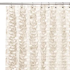 Gigi Ivory 72 x 72 Shower Curtain - Bed Bath & Beyond .... Looks better up close.  But the textural look of it is quite amazing.  Would be beautiful in my living room...