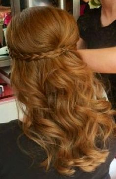 Hillary all the way :) Braid and curls