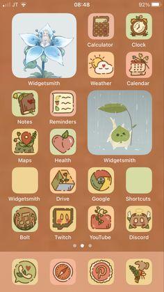 Iphone App Design, Iphone App Layout, Themes App, Phone Themes, Iphone Wallpaper Kawaii, Iphone Home Screen Layout, Ios App Icon, App Icon Design, App Covers