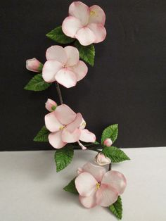 apple blossom spray cake topper gum paste by SweetpeaSugarArt