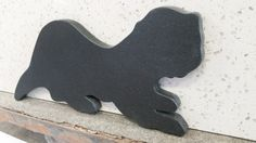 Hand Made Otter Cutting Board: Honed Absolute Black Granite 2cm