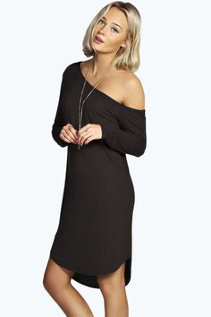Naomi off The Shoulder Dip Hem Dress $20
