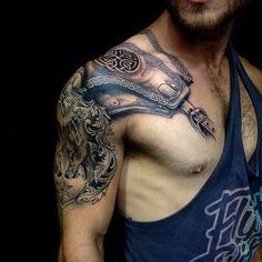 20 Amazing Armor Tattoos for Men | Tattoos Pictures