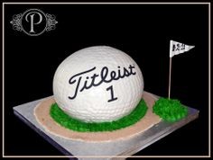 "have pinata say ""titleist"" so looks better than just a big white ball"