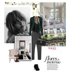 """""""Each day is a little life: every waking and rising a little birth, every fresh morning a little youth...."""" by nicolesynth ❤ liked on Polyvore featuring Tabitha Simmons, York Wallcoverings, Kalmanovich, Sacai Luck, Orient Express Furniture, Ralph Lauren, Gucci, Burberry, women's clothing and women"""