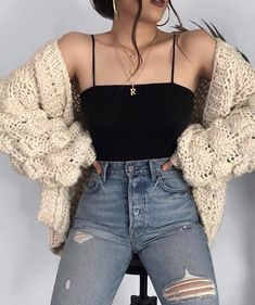 Cute Fall Outfits Ideas 2018 - 50 fall outfit ideas ⋆ Take NoteYou can find Outfit ideas and more on our website.Cute Fall Outfits Ideas 2018 - 50 fall outfit ideas ⋆ Take Note Teen Fashion Outfits, Mode Outfits, Look Fashion, Girl Outfits, Fashion Beauty, Fashion Dresses, Cute Outfits For Girls, Fashion Ideas, Trendy Outfits For Teens