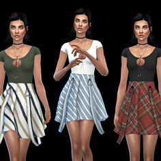 Leo 4 Sims: Abbey Skirt recolor • Sims 4 Downloads