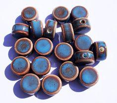 20 Handmade PORCELAIN Beads 16x16x10mm - COD6083. €2.75