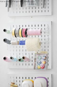 New Years Craft Resolutions- Party Room Organization Craft Organization, Craft Storage, Organization Ideas, Storage Ideas, New Year's Crafts, Fun Crafts, Sewing Crafts, Diy Craft Projects, Craft Ideas