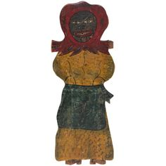 Large Handmade Folk Art Mammy Carnival Art   From a unique collection of antique and modern carnival art at https://www.1stdibs.com/furniture/folk-art/carnival-art/