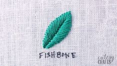If you've always wanted to learn embroidery stitches, here's the perfect guide for you. I have a video tutorial for each embroidery stitch. Basic Hand Embroidery Stitches, Embroidery Leaf, Hand Embroidery Videos, Embroidery Sampler, Paper Embroidery, Simple Embroidery, Learn Embroidery, Sewing Stitches, Hand Embroidery Patterns
