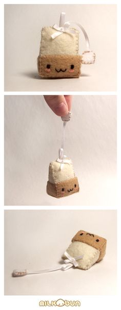 teabag plush - omg this would be cute for a tea party <3