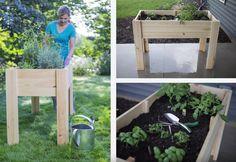 Kleines Tisch Hochbeet bauen - Perfekt für Balkon und Terrasse