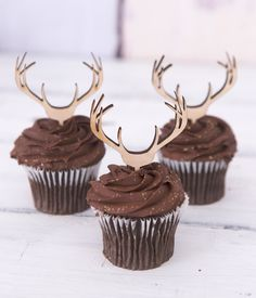 Cupcake Toppers Wooden Antlers Hunting or Boho Style Rustic Wood Deer Cake Toppers Country Birthday Theme Western Hunting Baby Showers, Abc Baby Shower, Rustic Cupcakes, Deer Cakes, Bithday Cake, Country Birthday, Hunting Birthday, 50th Birthday Party, Special Birthday