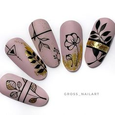 Cute Nail Art, Cute Nails, Pretty Nails, Nail Art Designs Videos, Nail Art Videos, Nail Designs, Floral Nail Art, Luxury Nails, Halloween Nail Art
