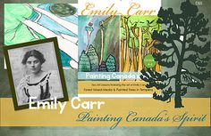 This 16-page lesson plan on Emily Carr is divided into two techniques: tempera paint and oil pastel on black paper and tempera paint on white paper.