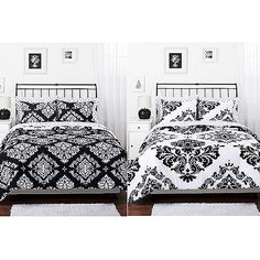 Classic Noir Bedding Reversible Comforter Set - Walmart.com