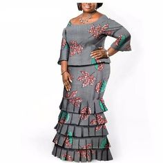 Special Use: Traditional Clothing Item Type: Africa Clothing Material: Cotton Estimated Delivery Color: 14 Season: Fall Type: Two-pieces suit Length: Floor Linings: Yes African Inspired Fashion, African Men Fashion, African Dresses For Women, African Wear, African Attire, African Fashion Dresses, African Women, African Lace, Ankara Skirt And Blouse