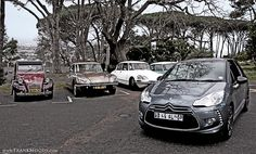 My Citroen DS3 posing with its classic forefathers
