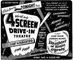 Starlite Drive In Theatre, Drive In Movie Theater, Drive Inn Movies, Outdoor Cinema, Vintage Newspaper, Movie Sites, Theatres, Cotton Bag, Grease