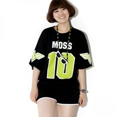"Today's Hot Pick :MOSS 10 Printed T-Shirt 【BLUEPOPS】 http://fashionstylep.com/P0000XKT/ju021026/out Look fly as a hip hop star in this printed tee. This has a round neckline, neon ""MOSS 10""front tee, short-sleeves with symbol print, relaxed fit, and cotton fabric for that effortlessly cool and chill vibe. Turn up the swag by pairing this with distressed pants and wedge sneakers."