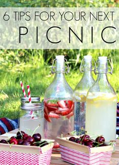 6 Tips for Your Next Picnic put food in a jar tub... What ways could you carry your lunch?