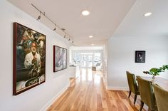 Light, white and open. Crisp walls and good lighting on artworks. Floating House, Art Of Living, Cool Lighting, Home Art, Home Remodeling, Portland, Crisp, Seattle, Artworks