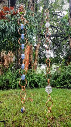 I love making these rain chains! The variation possibilities are endless…