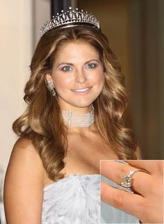 Hello!-Princess Madeleine with a closeup of her engagement ring