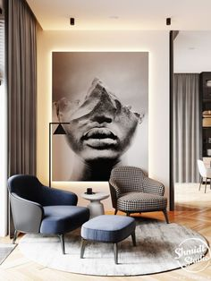 Apartment Interior, Room Interior, Interior Design Living Room, Living Room Designs, Living Room Decor, Interior Decorating, Living Rooms, Bedroom Decor, Wall Decor