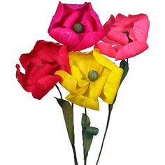 6 Mexican Corn Husk Magnolias DIY Wedding Bouquet by SupplyCrate, $65.00