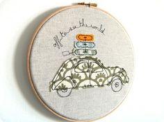 Inspiring Embroidery Hoops...cute