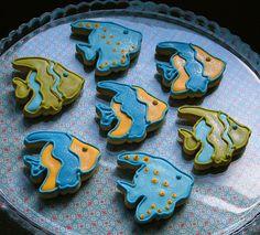 tropical fish cookies