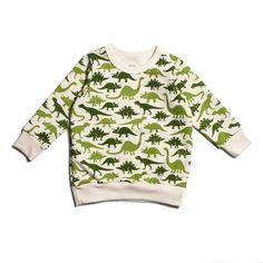 Sweatshirt - Dinosaurs Green