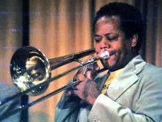 "Slide Hampton plays ""Come Rain or Shine"" at the 1982 Gibson Jazz Party Cool Jazz, Jazz Musicians, Trombone, Blues Music, Popular Music, Left Handed, The Hamptons, Rain, Rain Fall"