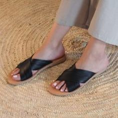 Greek Leather Sandals (Slip, Slide & Buckle Styles) | R1,599.00 | www.thestorer.co Greek Sandals, Accessories Shop, Leather Sandals, Fashion Shoes, Footwear, Slip On, Style, Swag, Shoe