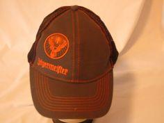 JAGERMEISTER adult OSFA baseball hat cap snapback gray orange black sewn logo #Jagermeister #BaseballCap