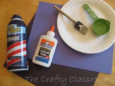 homemade puffy paint with shaving cream and glue!!