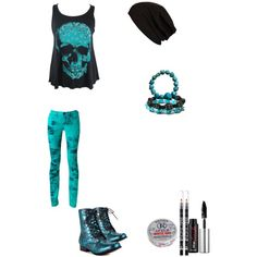 """avril styled skull outfit"" by avril-lavigne-fan-forever on Polyvore"