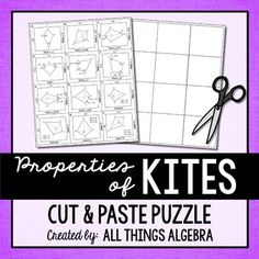 Properties of Trapezoids Cut and Paste Puzzle | 2nd Gr ...