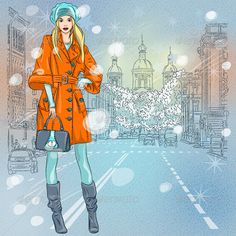 Fashionable Girl on the Avenue  #GraphicRiver         Christmas winter Urban landscape, beautiful fashionable girl on the wide avenue with views of the church in St. Petersburg, Russia.            More pictures peoples for you and      More travel pictures for you:         Created: 8November13 GraphicsFilesIncluded: JPGImage #VectorEPS Layered: Yes MinimumAdobeCSVersion: CS Tags: avenue #beautiful #christmas #church #city #citycenter #cityscape #dome #drawing #europe #fashion #girl…