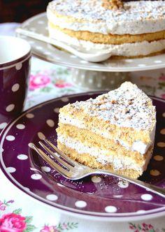 Cake alla ricotta noci e semi di papavero   Cake with  ricotta cheese , walnuts and poppy seeds