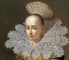 Central-European School (?). Portrait of a Girl with a Pearl Headdress, c. 1625/35