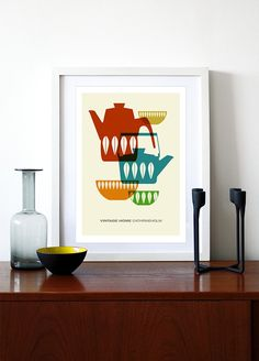 Great Cathrine Holm print. It doesn't need to be washed and takes up less room in the kitchen