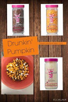 Pink Zebra Recipes: Drunkin' Pumpkin.  Featuring: Pumpkin Amber, Oak & Bourbon and Amaretto Cream