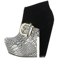 Get daring drama with this platform bootie