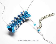 Earrings Tutorial With Crescent Beads. Step 10