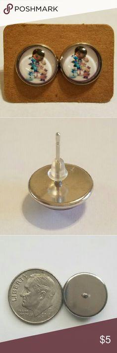 #2 Doc McStuffins Earrings 12mm  Hypoallergenic stainless steel  Hypoallergenic plastic ear backs Jewelry Earrings